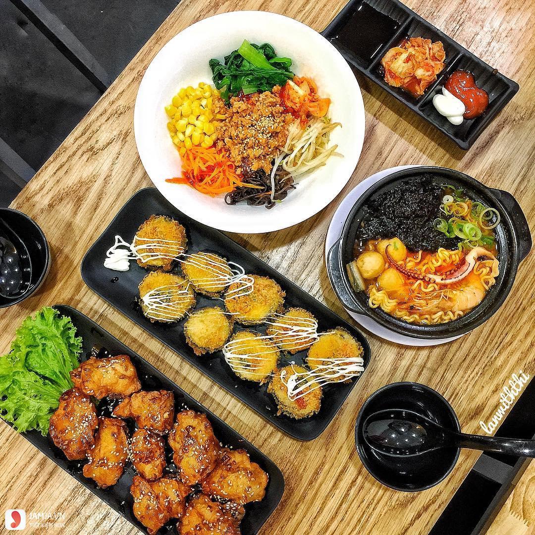 Đồ ăn ở Kimbap Hoàng Tử