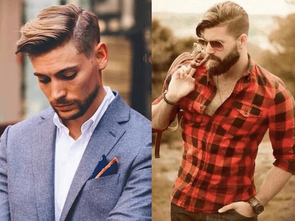 Kiểu tóc chải lệch - kiểu tóc hợp với khuôn mặt dài gầy của nam