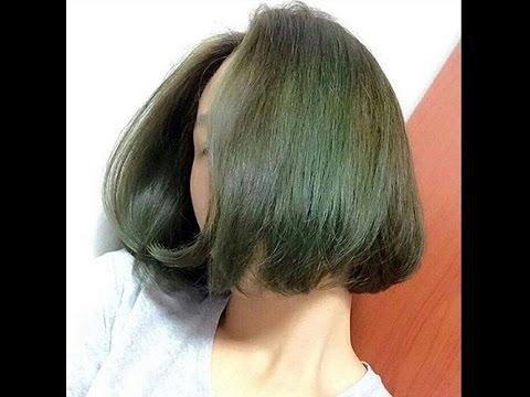 cách nhuộm tóc màu xanh rêu-2