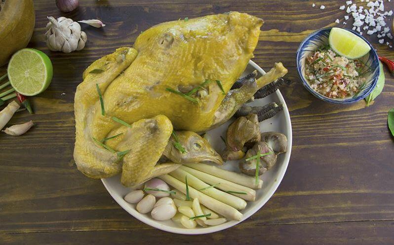 Cách làm gà hấp muối sả siêu ngon