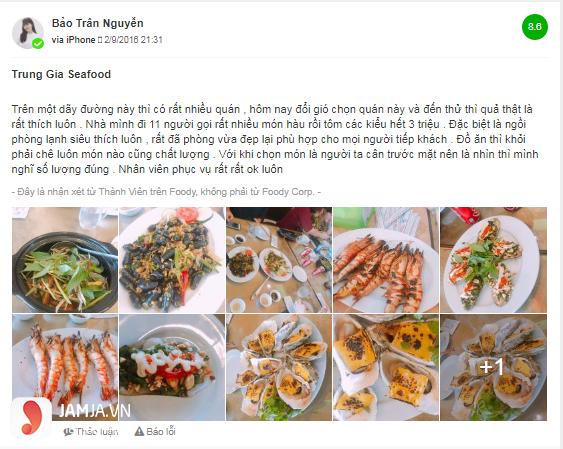 Quán nhậu ngon ở Đà Nẵng - hải sản seefood