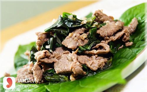 cách làm thịt bê xào lá lốt-1