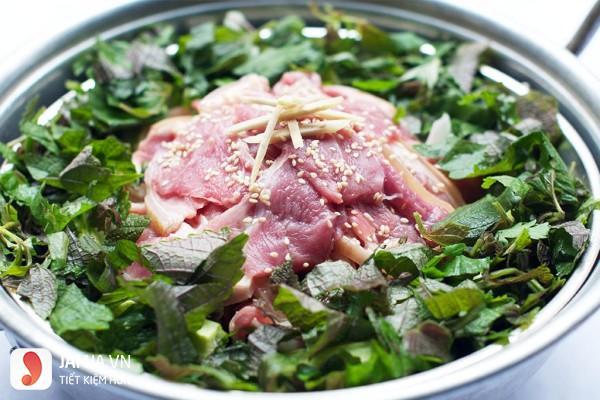 Cách chế biến thịt bê hấp lá tía tô-2