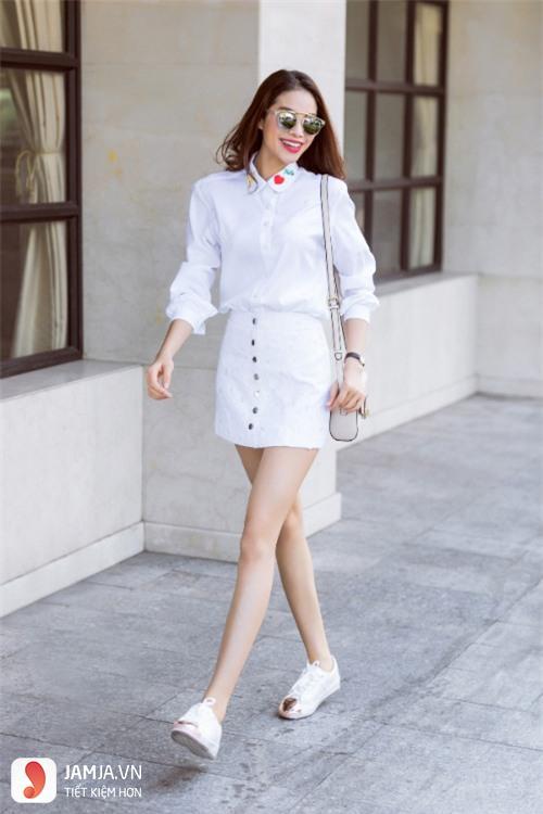 Kết quả hình ảnh cho cách phối quần áo màu trắng
