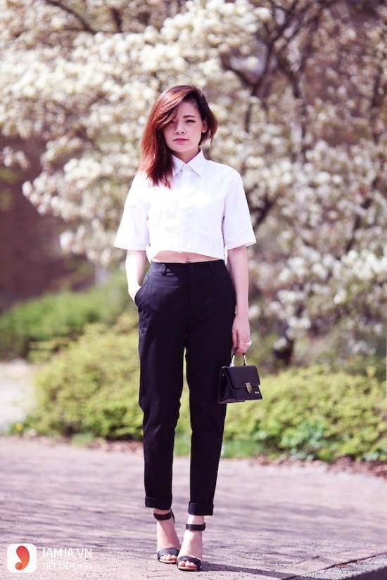 Áo croptop mặc với quần gì vừa đẹp vừa chất