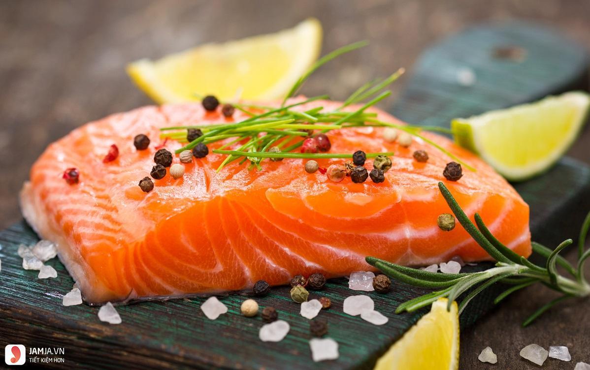 Cá hồi tốt cho người bị tiểu đường