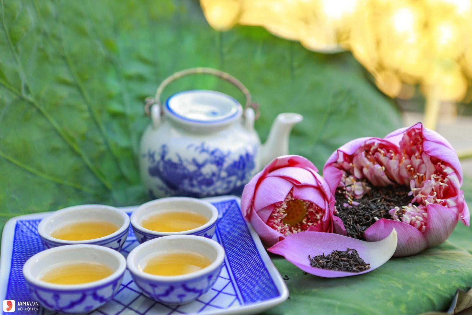 Kết quả hình ảnh cho trà xanh lá sen