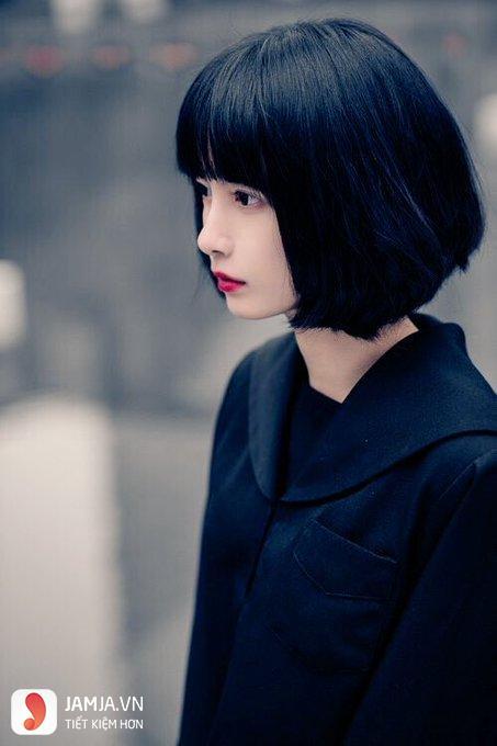 Tóc ngắn đen đẹp