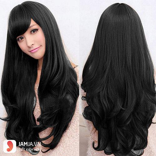 tóc đen dài xoăn đẹp-4