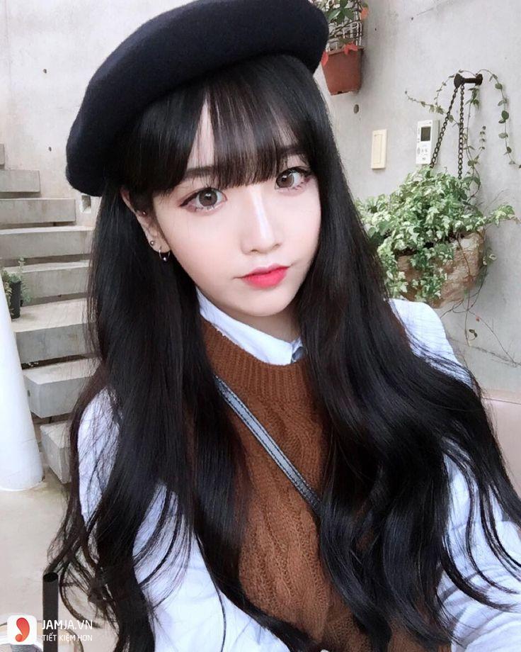 tóc đen dài xoăn đẹp-11