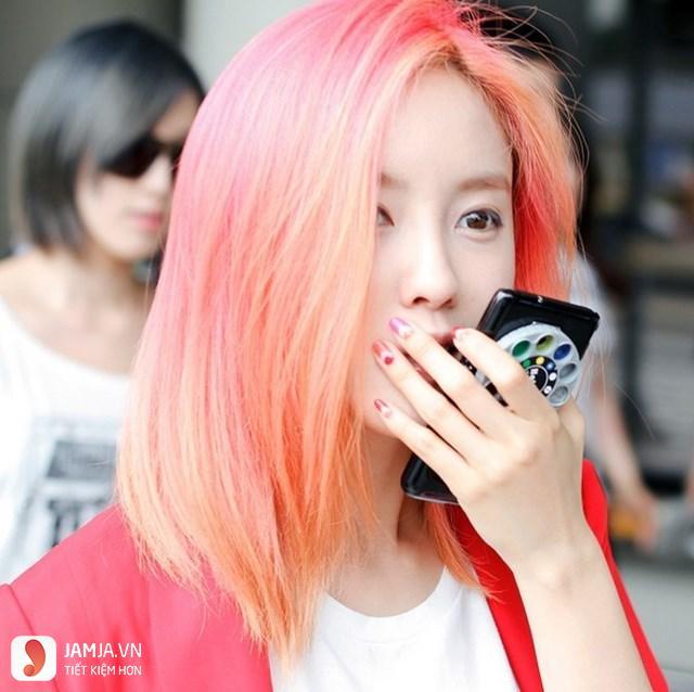 Nhuộm tóc màu vàng cam-1