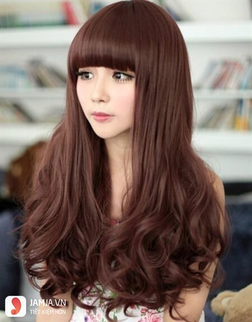 Nhuộm tóc màu nâu hạt dẻ