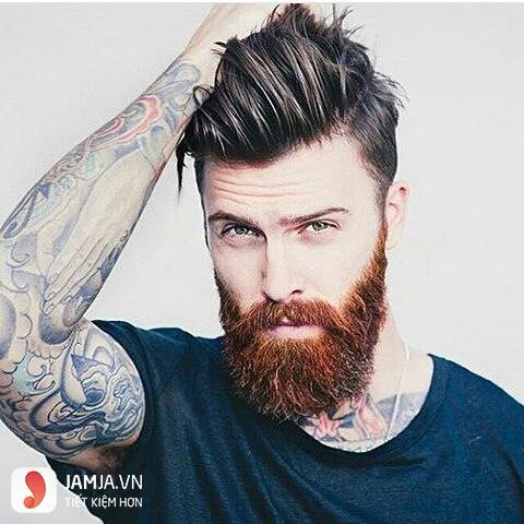 Kiểu vuốt ngược cho nam tóc thưa và mỏng