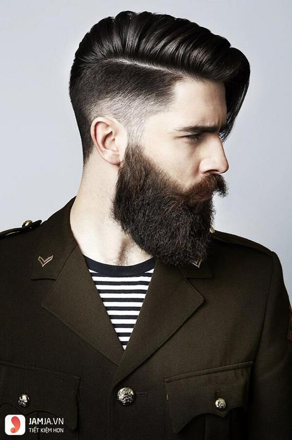 Kiểu tóc lệch cho nam tóc thưa và mỏng