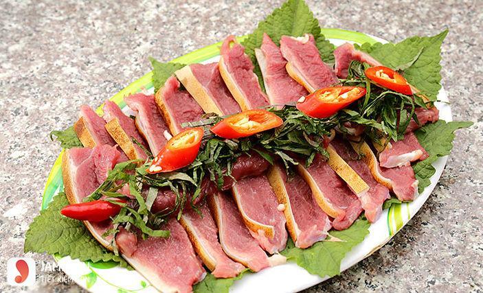 Cách làm thịt dê hấp tía tô 2