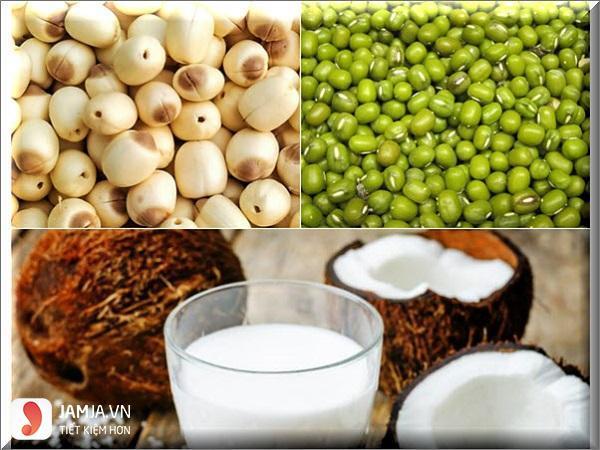 cách nấu chè sennước cốt dừa 1