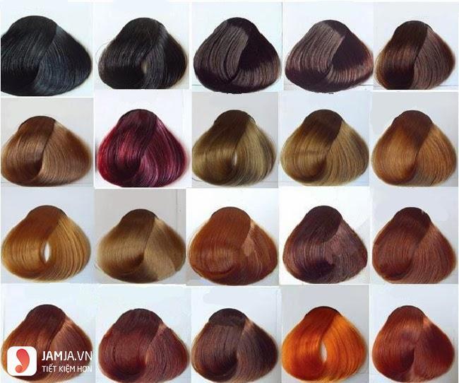Bảng màu nhuộm tóc đầy đủ