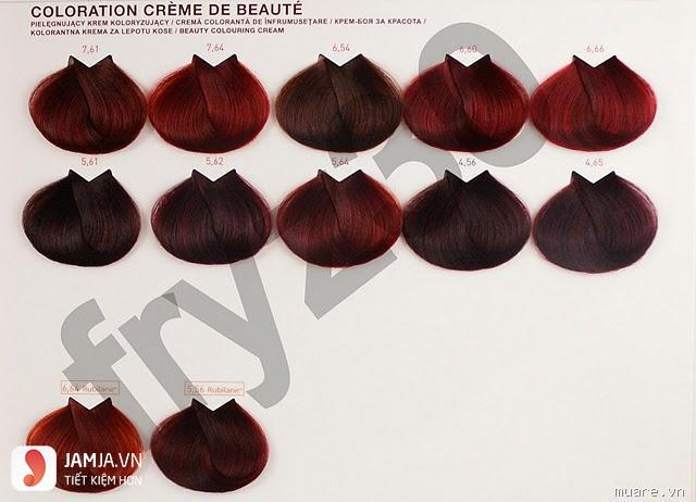 barg nhuộm tóc đỏ tím