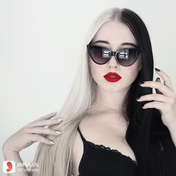 Nhuộm tóc màu đen trắng