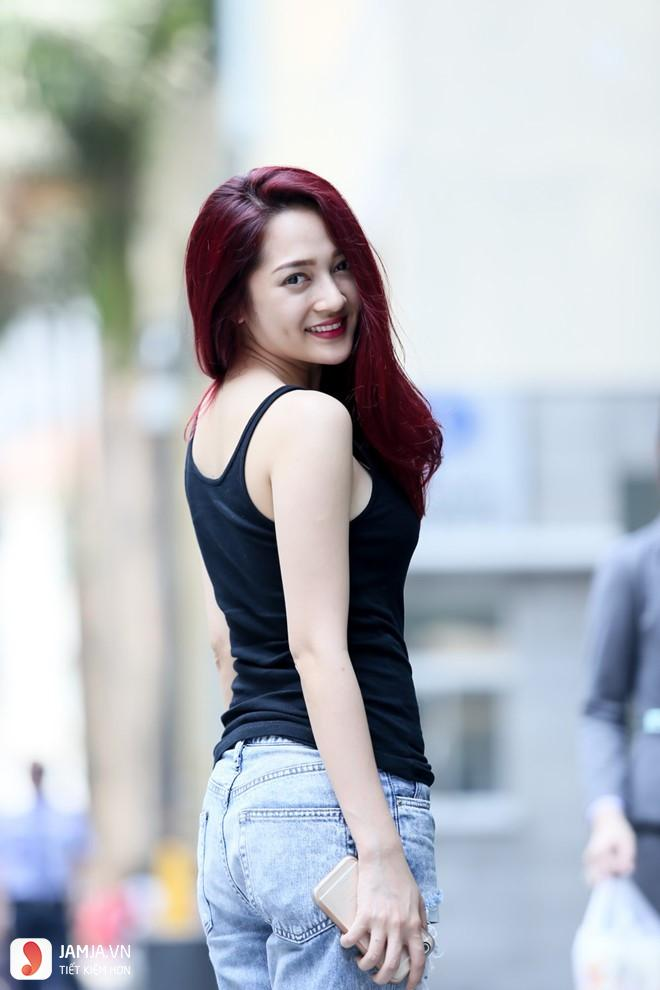Nhuộm tóc màu đỏ tía