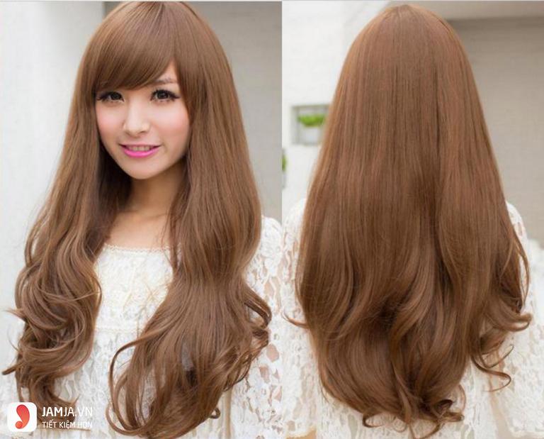 Nhuộm tóc màu hạt dẻ