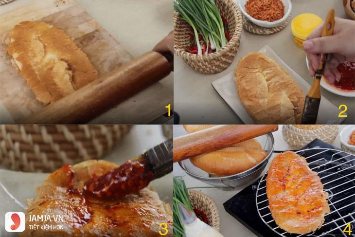 Cách làm bánh mì nướng muối ớt - 1