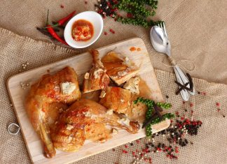 cách làm gà nướng lu