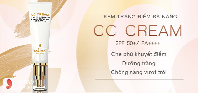 Tìm hiểu về kem trang điểmCC Cream Sakura