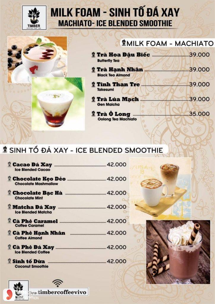 Menu đồ uống Timber Coffee - 2
