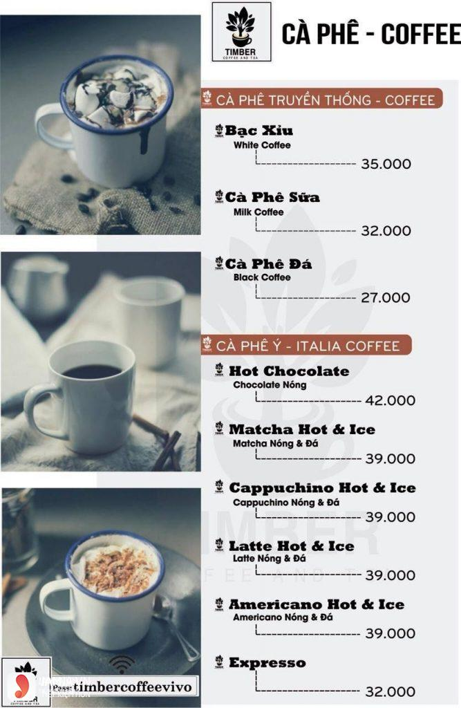 Menu cafe Timber Coffee - 4