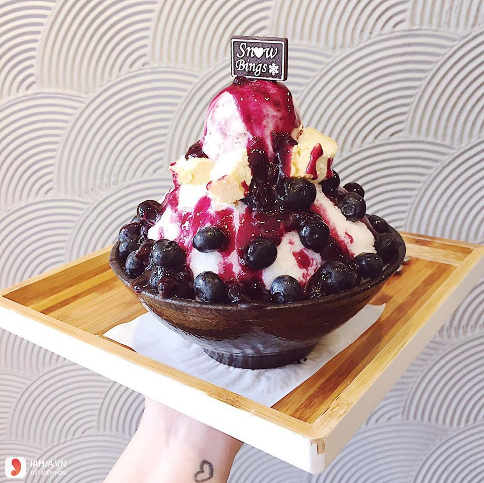 Bingsu blueberry SNOW BINGS