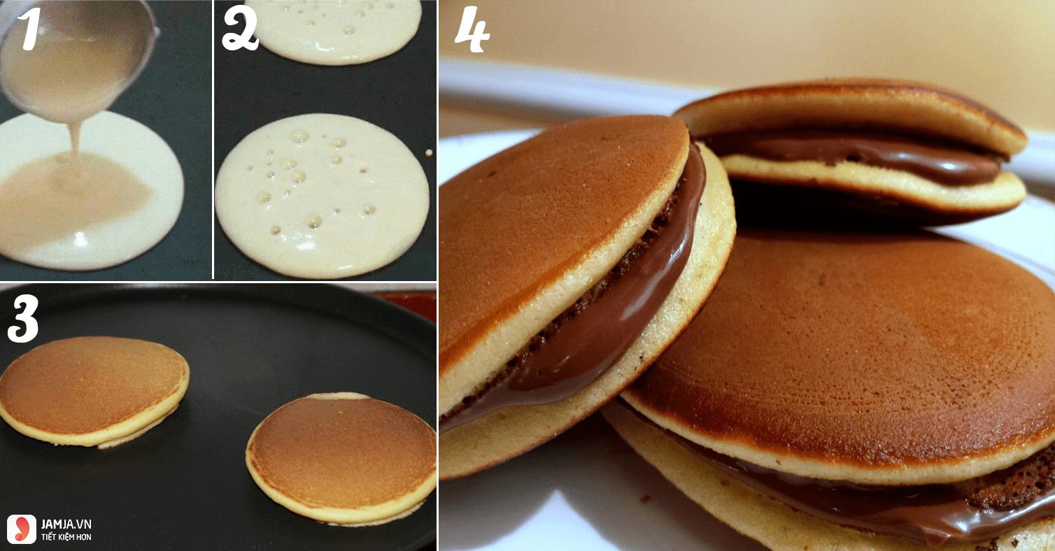 Cách làm bánh rán doremon nhân socola 3