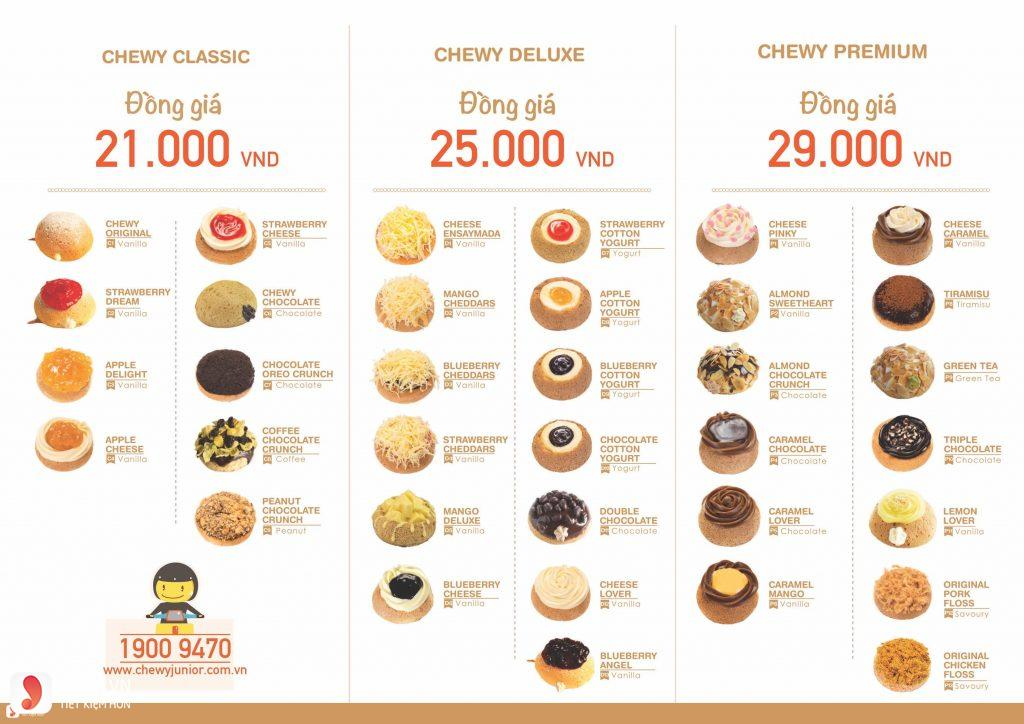 Menu Chewy Junior - 1