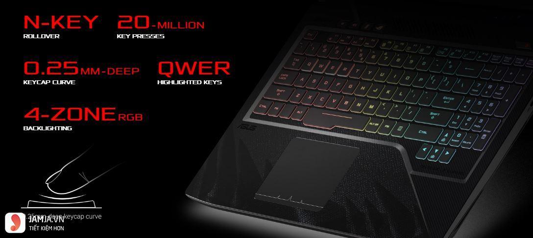 Laptop Asus ROG Strix Hero GL503VM-GZ219T bàn phím