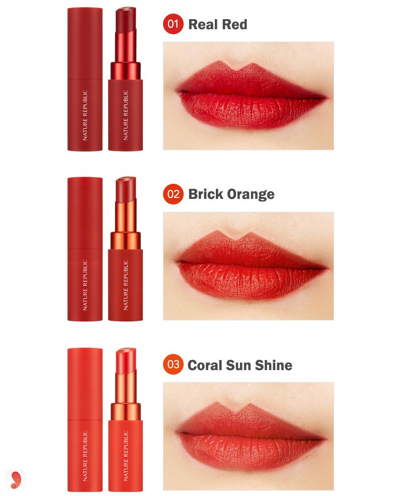 Bảng màu sonNature Republic Real Matte Lipstick 2