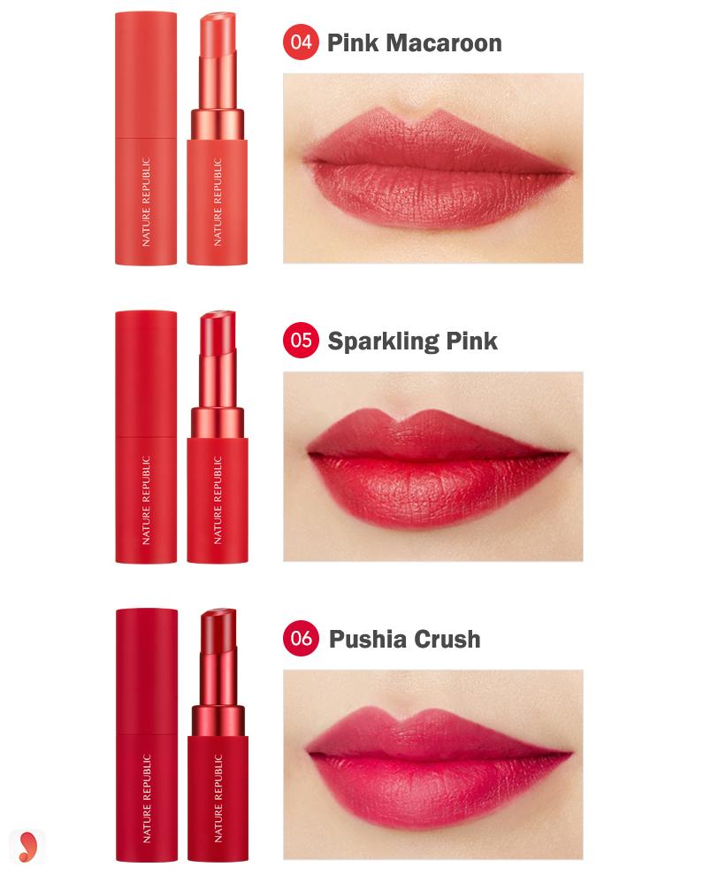 Bảng màu sonNature Republic Real Matte Lipstick 4