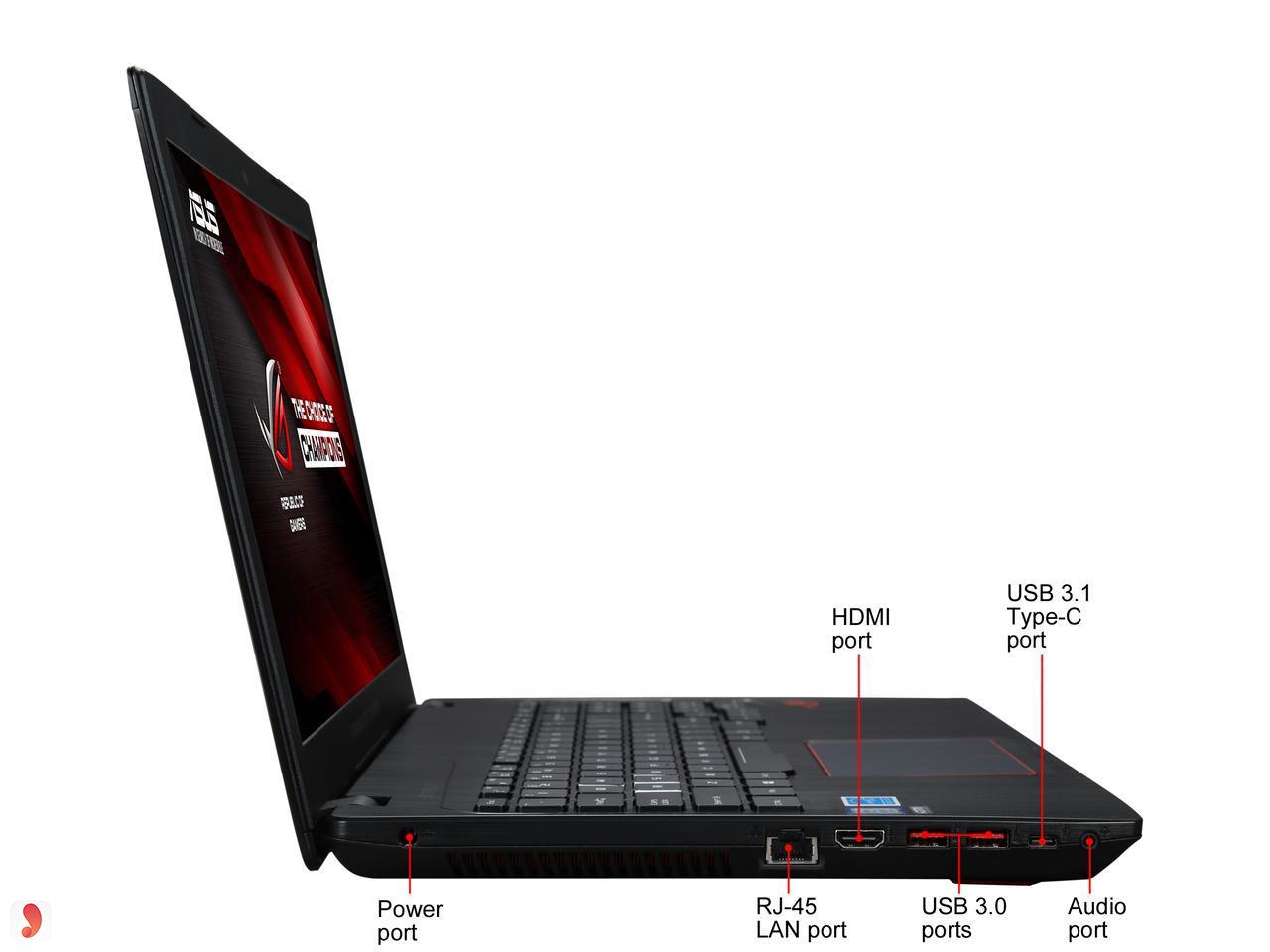 Cổng kết nối laptop Asus