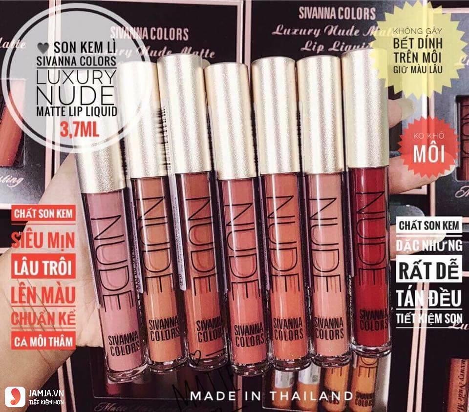 son kem lì Sivanna Colors Luxury Nude Matte Lip Liquid 5