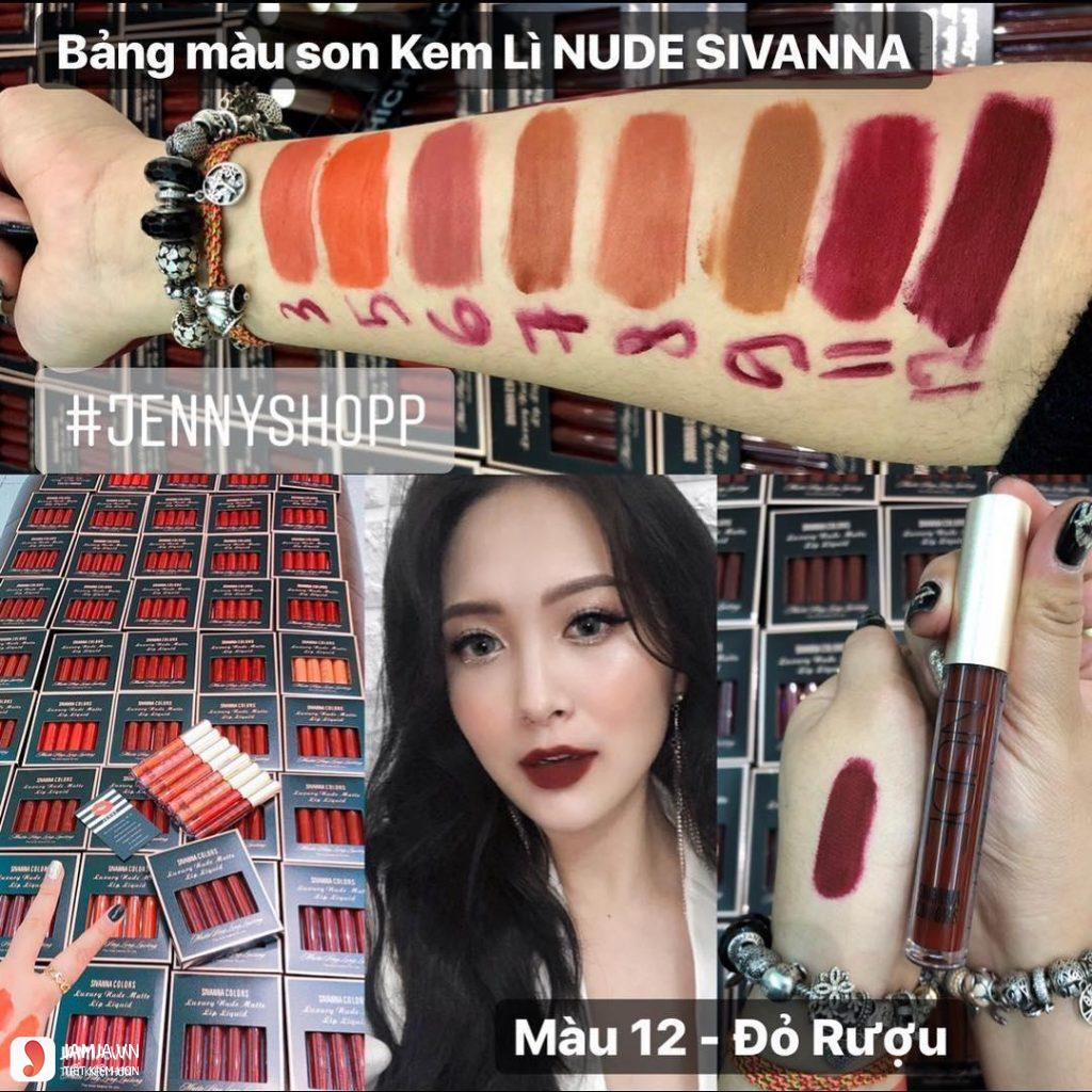 son kem lì Sivanna Colors Luxury Nude Matte Lip Liquid 6
