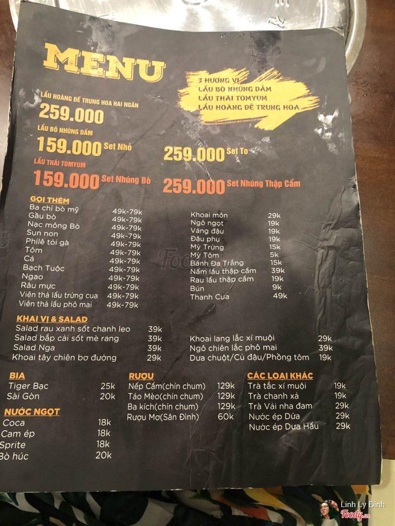 menu nhung quan ngo 298 tay son