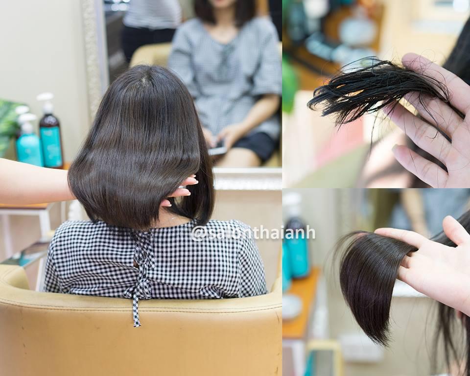 phục hồi tóc tại salon thái anh