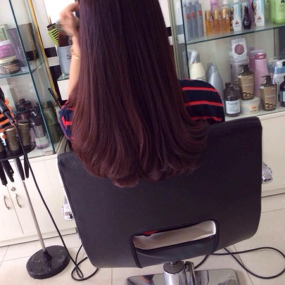 nhuộm tóc tại salon thanh hà